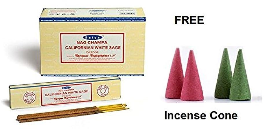 焦げ箱そこからBuycrafty Satya Champa Californian White Sage Incense Stick,180 Grams Box (15g x 12 Boxes) with 4 Free Incense Cone