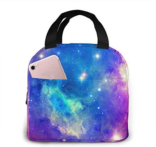 Lunchpaket, Isolierte Lunchbox, Nebula Galaxy Lightweight Portable Insulated Lunch Bags Handtaschen für die Arbeit in der Schule