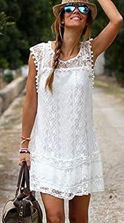 White Beach Dress For Women [ Size : L] - Ae01