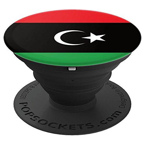 Libysche Flagge Libyen Flagge - PopSockets Ausziehbarer Sockel und Griff für Smartphones und Tablets