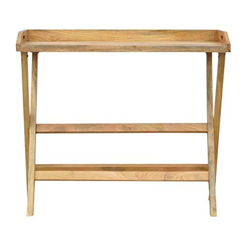 Artisan Furniture Butler Style Writing Desk with Foldable Legs Schreibtisch, Mangoholz, Eiche, One Size