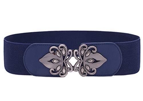 Syuer Womens Vintage Wide Elastic Stretch Waist Belt Retro Cinch Belt