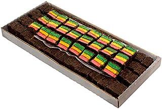 5 LB Rainbow Cookie - Italian Rainbow Layer Cake Covered In Chocolate & Chocolate Sprinkles