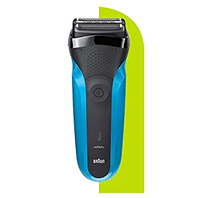 Braun Series 3 310 Electric Shaver, Wet & Dry Electric Razor for Men with 3 Flexible Blades, Rechargeable and Cordless, Electric Foil Washable Shaver, Black/Blue by Procter & Gamble