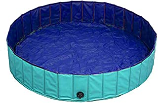 Delifur Foldable PVC Dog Cat Water Pool Pet Outdoor Swimming Playing Pond