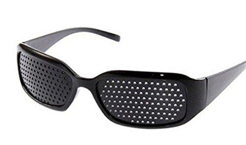 DAUCO Rasterbrille Lochbrille/Pinhole Glasses Nadelöhr für Augentrainer Entspannung Gitterbrille mit,(Rasterbrille)