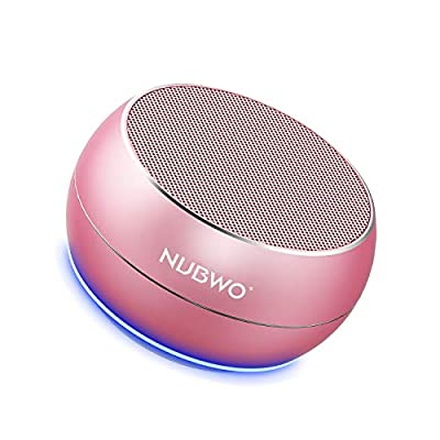NUBWO Portable Bluetooth Speakers with HD Audio and Enhanced Bass, Built-in Speakerphone for iPhone, iPad, BlackBerry, Samsung and More (Rose Gold)