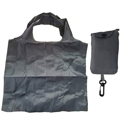 Cisne 2013, S.L. Pack de Bolso de Hombro y Mini Bolso de Cintura con Asas Plegable. Bolsa de Hombro 63x45cm Color Gris.