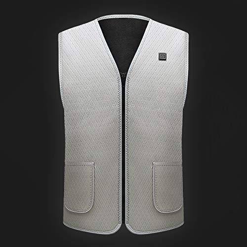 Veste Skimpy CHAUFFÉ - Portable Gear Warm in 360 Intelligent Self, Sports de Plein air Instant Quick Heating, Gris, XL