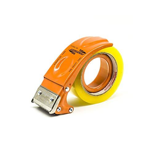 Prosun Dispensadores de Cinta Adhesiva - Dispensador de pistola de metal manual (75 mm, 3 pulgadas), Naranja