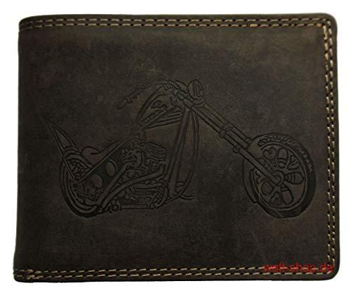 Portemonnaie Büffel Wild Leder Motorrad Chopper
