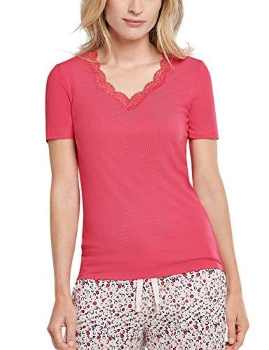 Schiesser Mix + Relax Shirt 1/2 Arm Camiseta de Pijama, Fucsia, 44 para Mujer