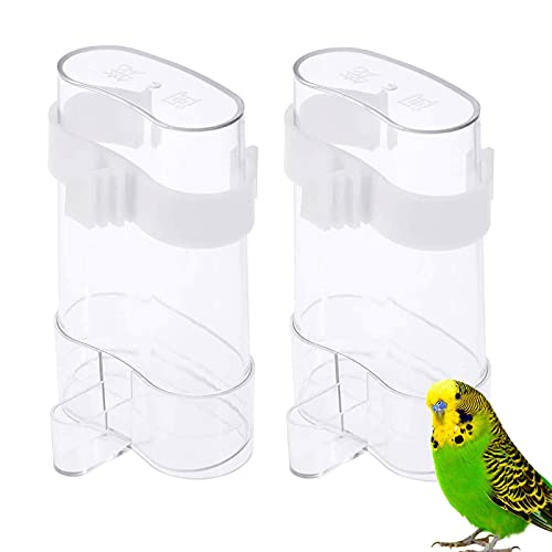 2 Stück Vögel Automatischer Wasserspender Futterspender Vögel Automatischer Papageien Futterspender Tränke Und Futterspender Papageientränke Für Pet Bird Parrot Pigeon Feeding Automatische Trinkwasser