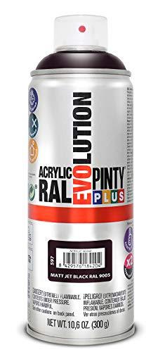 Evolution pinty p. M123011 - Pintura spray acrilica 520 cc negro mate