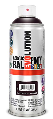 Evolution pinty p. M123011 - Pintura spray acrilica 520 cc negro mate