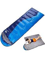 寝袋 CAMEL CROWN[キャメル] シュラフ 封筒型 軽量 防水 コンパクト アウトドア 登山 車中泊 丸洗い 1.1kg 1.35kg オールシーズン 収納袋付き