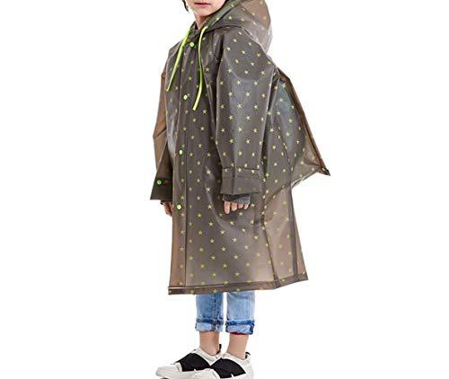 QYXJJ QLBF Regenmäntel Regen wasserdicht im Freien Kinder-Regenkleidung Regen Anzug leichte wasserdichte Durchlässiger Baby Kind Leichte atmungsaktive wasserdichte Outdoor-Raincoat Poncho