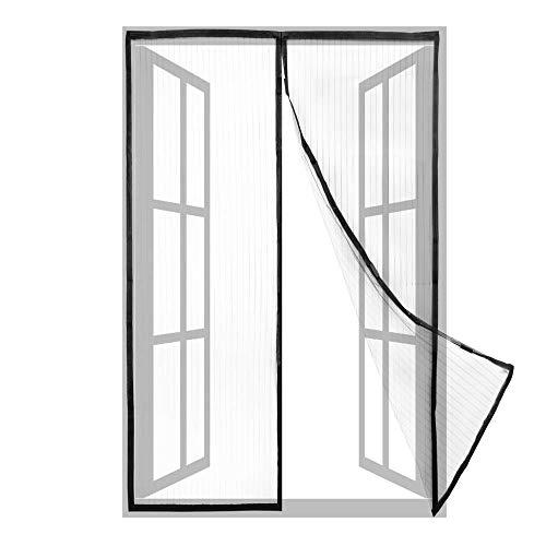 PrimeMatik - Mosquitera para Puerta 100 x 210 cm con Cierre magnético