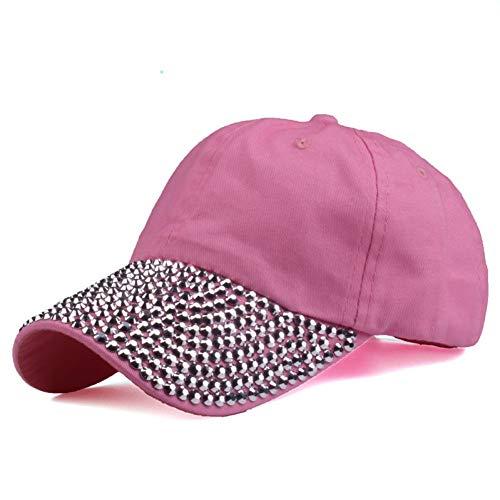 Gorra de Beisbol Gorras De Béisbol Hombres Y Mujeres Puros Sombrero para El Sol Sombrero De Diamantes De Imitación Gorra De Mezclilla Y Algodón Sna