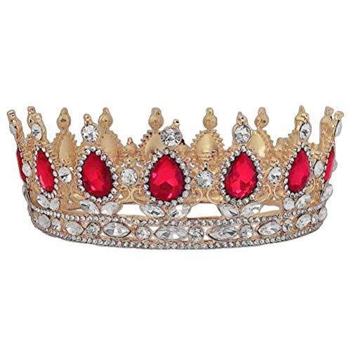 Minkissy Coronas de reina Tocado de novia clásico de la corona de...