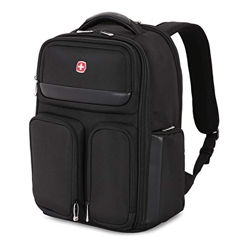 SWISSGEAR Large ScanSmart Utra-Premium 15-inch Laptop Backpack | TSA-Friendly Carry-on | Travel, Work, School | Men's and Women's - Black