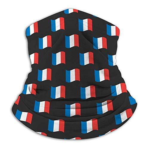 Xian Shiy Tubo unisex Cara Bufanda Cuello Polaina S Banderas de Francia Patrón sin costuras Negro Backgro Cubierta de la cara unisex