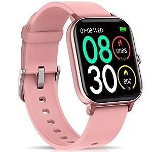 """NAIXUES Smartwatch, Reloj Inteligente Impermeable IP67 Reloj Deportivo 1.4"""" Pantalla Táctil Completa con Pulsómetro, Monitor de Sueño, Podómetro, Notificaciones para Mujer Hombre (Negro) 13"""
