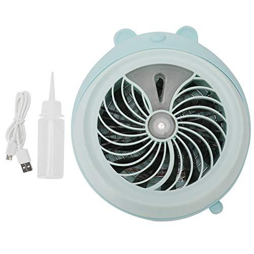 Tnfeeon Lindo Ventilador de Escritorio de Mesa, Mini Ventilador de Escritorio USB portátil, Ventilador de pulverización de Niebla humectante para Viajes de Oficina en casa(Blue Bear)