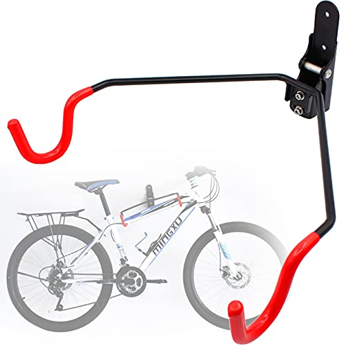 EnweMahi Plegable Gancho Pared Bici,Acero Marco Pared Bicicleta,Ajuste Múltiples Ángulos,Carga 50 Kg,Soporte Exhibición Bicicleta Montaña,Parkinghook,Soporte Bici