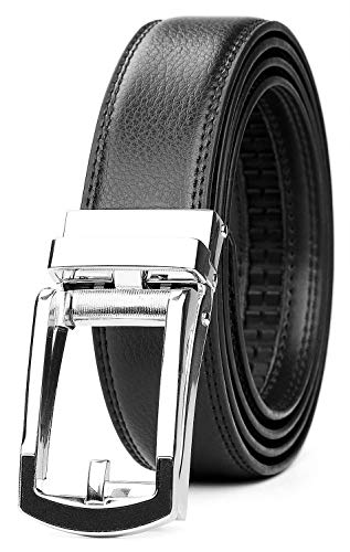 ジャスグッド JASGOOD ベルト メンズ 革 レザー ビジネス カジュアル 通勤 紳士 フォーマル ベルト オートロック式 男性用 スーツ用 サイズ調整可能 誕生日 プレゼントJA3067
