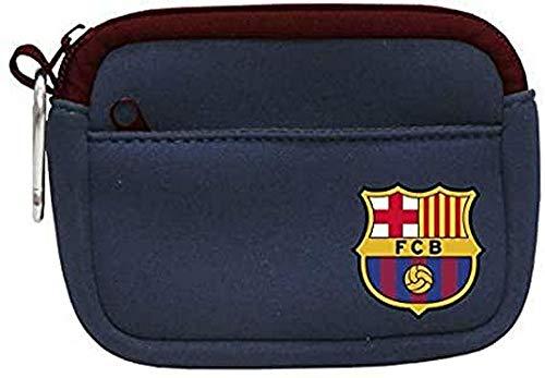FCB FC Barcelona Neopreno Monedero Tiempo Libre y Sportwear, Adultos Unisex, Multicolor (Multicolor), Talla Única