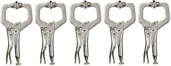 """5 Pack Irwin 18 Vise-Grip 6SP 6"""" Locking""""C"""" Clamps with Swivel Pads"""