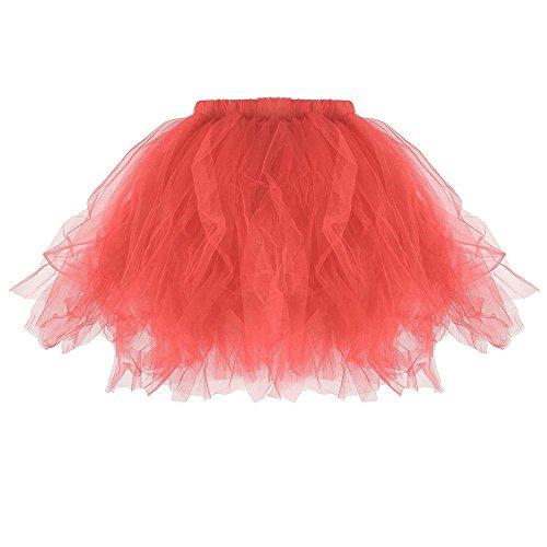 FRAUIT Tutu damesrok tule rok Reifrock 50S korte ballet dansjurk deur onderrok rockabilly petticoat voor carnaval partyjurk kwaliteit plissé rok plissé mini rok