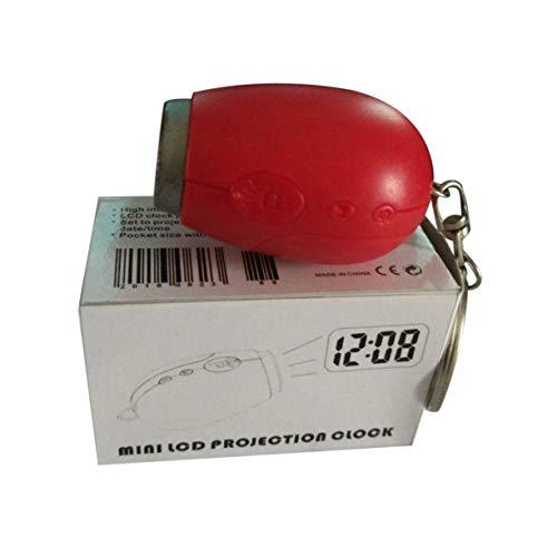 Susanda Mini Reloj de proyección Mini Reloj de proyección Digital Reloj LED portátil Reloj de proyección de Tiempo de Techo de Pared Reloj electrónico de luz Nocturna mágica...