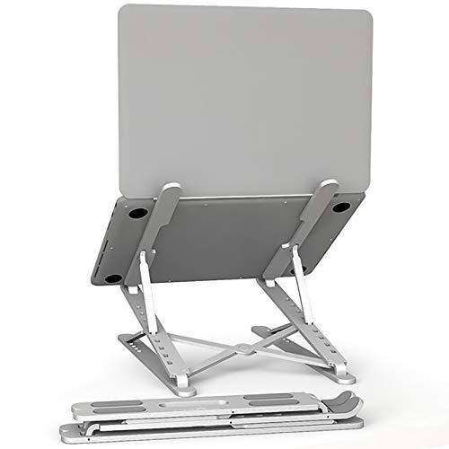 【改良された 9 + 6 ノートパソコン スタンド モデル】パソコンスタンド PCスタンド パソコン台 携帯スタンド付け 9+6段階の高さ調節が可能折りたたみ式軽量で持ち運び便利、姿勢を改善する 折り畳み式 ラップトップスタンド macbook/ipad/laptop/ノートPC/タブレット 6.5~17.3インチに対応 (シルバー). PIATECH(2層)