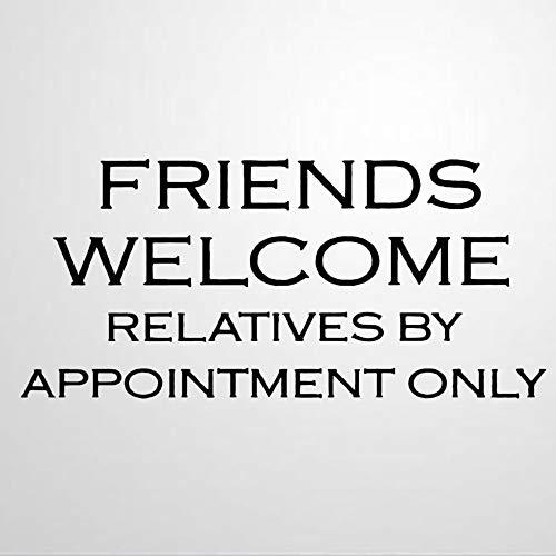 """Wandaufkleber mit Sprüchen, englischsprachige Aufschrift """"Friends Welcome Bachelorette"""", für Wohnzimmer, Schlafzimmer, Kinderzimmer"""