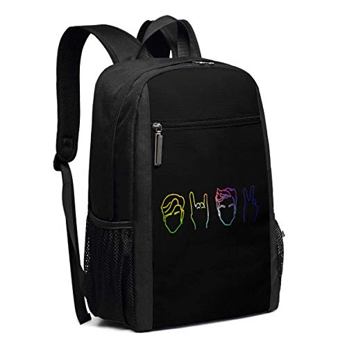 Schulrucksack, Travel Hiking Rianbow Dolan&Twins Backpacks Waterproof Big Student College High School Laptop Shoulder Bag Outdoor Backpacks for Men Women Adults