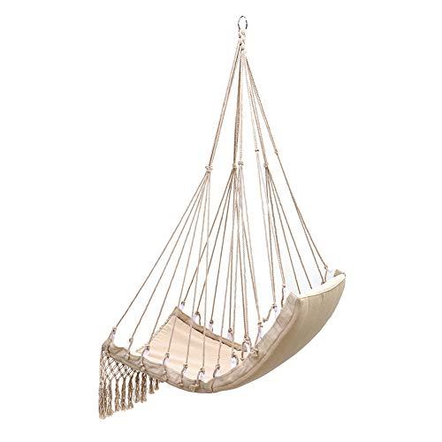 Hangmat in Scandinavische stijl, witte hangstoel Binnenmeubilair Buitentuin Schommelstoel Hangbed voor volwassen kind 100x55cm