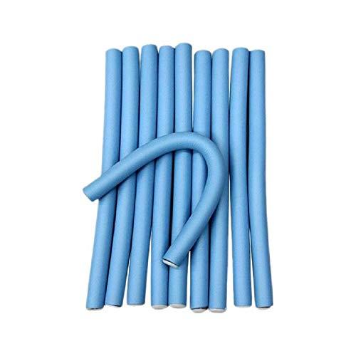 6 bigoudis moyens 24 cm Extra longs couleur bleue