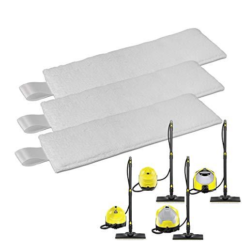 Zeltauto Mikrofaser-Bodendüsen-Pads, kompatibel mit Kärcher EasyFix SC1, SC2, SC3, SC4, SC5 Serie Dampfreiniger (3 Stück)