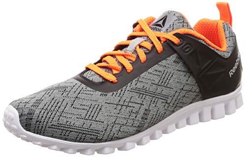 Reebok Boy's Run-O-Grace Jr. Lp Flat Grey/Black Shoes-3.5 UK (35 EU) (4 Kids US) (DV7982)