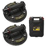 2 Pack Ventosa-Capacidad de Carga de 220 kg,Ventosa de Vidrio al Vacío con Bomba ABS/Se puede Utilizar para Levantar Puertas, Ventanas, Azulejos, etc (Incluyendo Maleta)