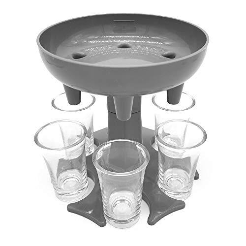 6 Shot Glasses Dispenser Six Ways and Holder Set - Multiple Bar Shot Dispenser With 6 1.2oz Acrylic...