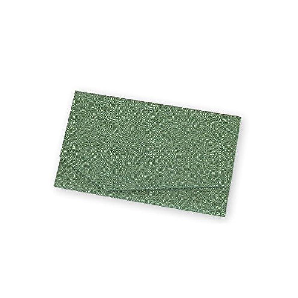 禁止する険しい土地金封 袱紗 ふくさ 慶弔両用袱紗 鮫小紋 緑