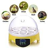 Egg Incubator Noeler Digital Incubators for Chicken Duck Goose Quail Birds Fertile Eggs for Hatching,7 Eggs Incubators Easy Use
