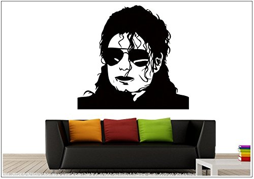 Stickers muraux paroi Decal Photo Portrait Michael Jackson tanzen wph039(Visualisierung,ca.15 x 6cm)