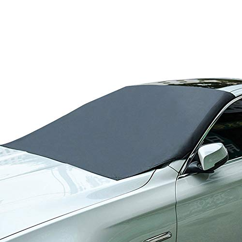 Ajing Car Windshield Snow Cover, Magnetic Windscreen Cover, Car Windscreen Frost Cover, Frost Guard Protector, Dust Cover Frost Snow Ice Cover in all Weather (210 * 120cm)