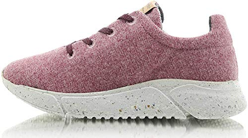Laerke Merino - Zapatillas deportivas para hombre de lana merino, fabricadas en Portugal, color Rosa, talla 45 EU