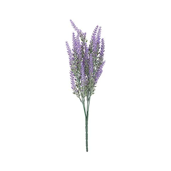 SOONHUA 25 Heads Wedding Artificial Flowers Lavender Fake Bridal Bouquet for Wedding Party Home Garden Decoration