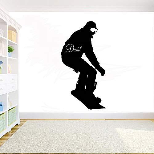Geiqianjiumai Snowboard Sneeuw Muursticker Aangepaste naam Verwijderbare Vinyl Wall Art Home Decoratie Mural